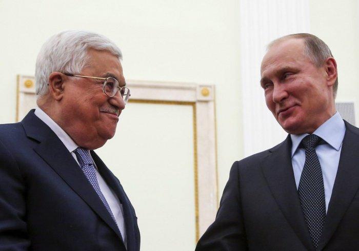 Махмуд Аббас и Владимир Путин на одной из предыдущих встреч.
