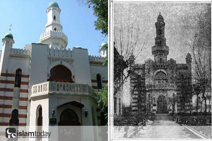 Татарская мечеть Харбина в честь 1000-летия принятия ислама булгарами. Из личного архива Равиля Салихмета - племянника Гиниятуллы хазрата