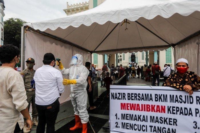 Ураза-байрам в индонезийском Медане (фото:DEDI SINUHAJI/ТАСС)