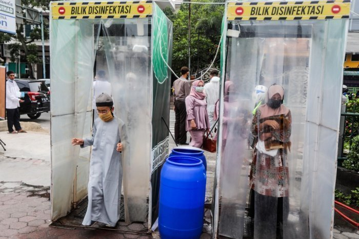 Мусульманский праздник Ураза-байрам в индонезийском Медане (фото:DEDI SINUHAJI/ТАСС)