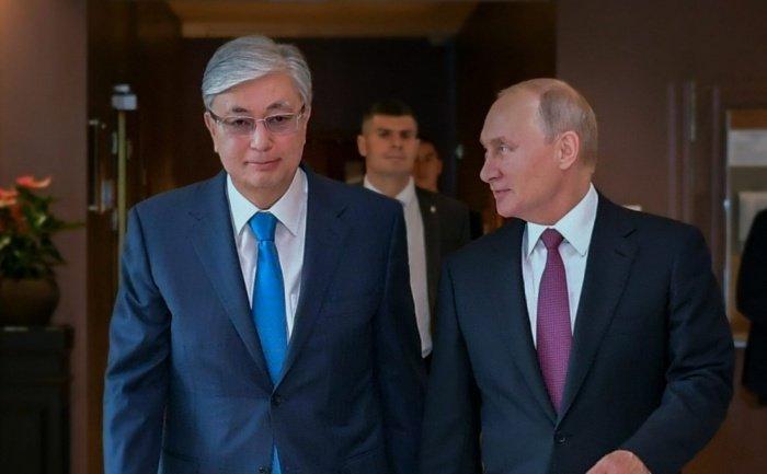 Владимир Путин и Касым-Жомарт Токаев на одной из предыдущих встреч.