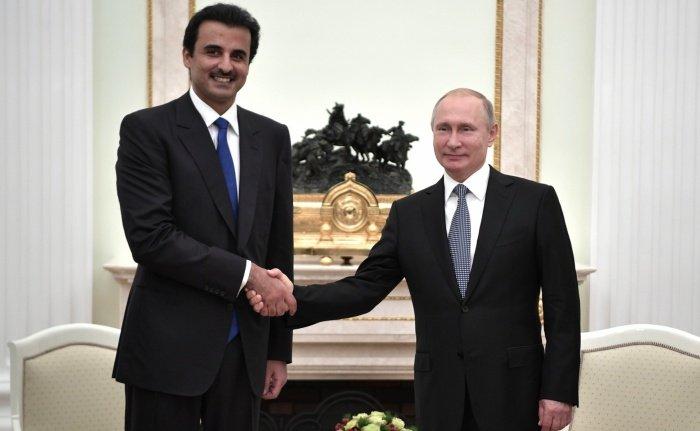 Кремль сообщил о телефонных переговорах Путина с эмиром Катара.