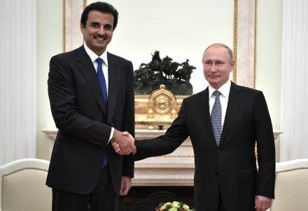 Путин провел переговоры с эмиром Катара