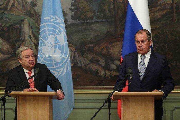 Лавров и Гутерреш на одной из предыдущих встреч.