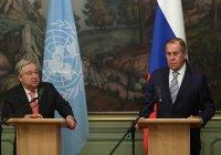 Лавров и Гутерреш выразили обеспокоенность активизацией террористов в Сирии