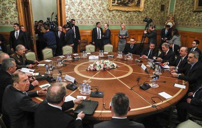 Переговоры глав МИД и Минобороны РФ и Турции 13 января 2020 года.