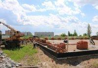 На месте строящейся мечети в Нижнекамске начали возводить стены