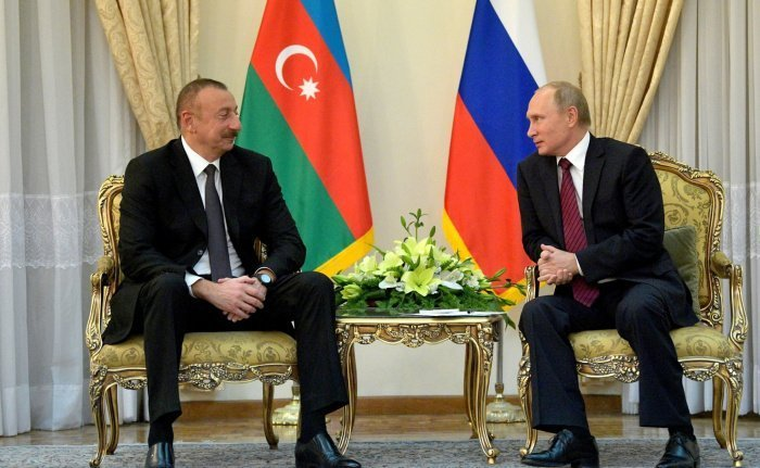 Президенты России и Азербайджана на одной из предыдущих встреч.