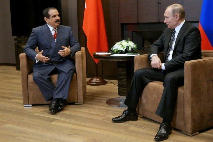 Хамад бен Иса Аль Халифа и Владимир Путин на одной из предыдущих встреч.