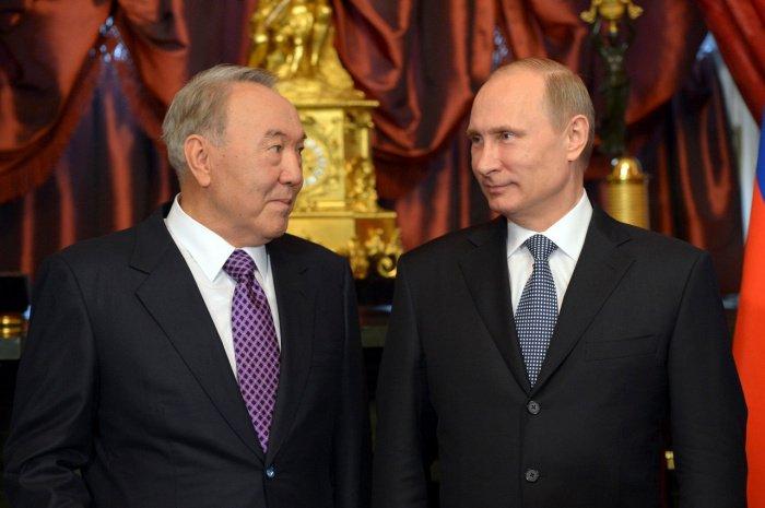 Путин поздравил Назарбаева с юбилеем.