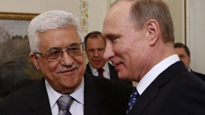 Лидеры России и Палестины на одной из предыдущих встреч.
