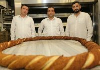 Вкусная 6-метровая достопримечательность Турции: в Орду приготовили огромный симит
