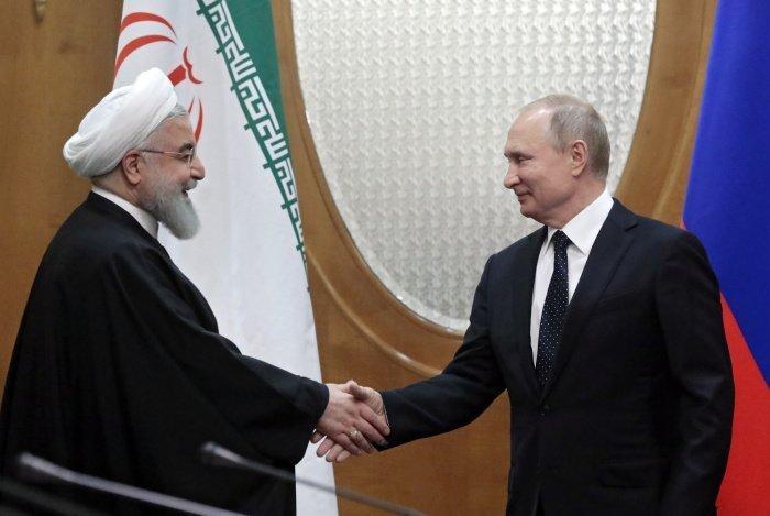 """Глава МИД Ирана отметил, что отношения Тегерана и Москвы """"сегодня являются самыми лучшими за последние десятилетия"""" (Фото: SERGEI CHIRIKOV/EPA/TASS)"""