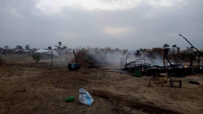 Фото с места нападения боевиков.