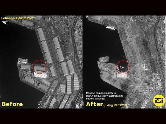 Спутниковые снимки, опубликованные израильской компанией.