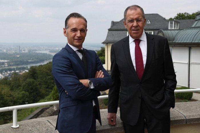 Лавров и Маас в ходе визита главы МИД РФ в Германию в 2019 году.