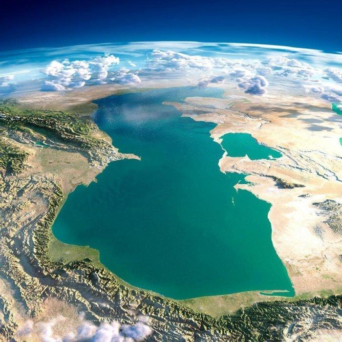 Каспийское море с космоса. (Источник фото: yandex.ru)