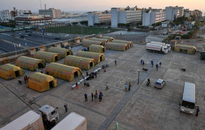 В МЧС РФ рассказали о работе в Бейруте.