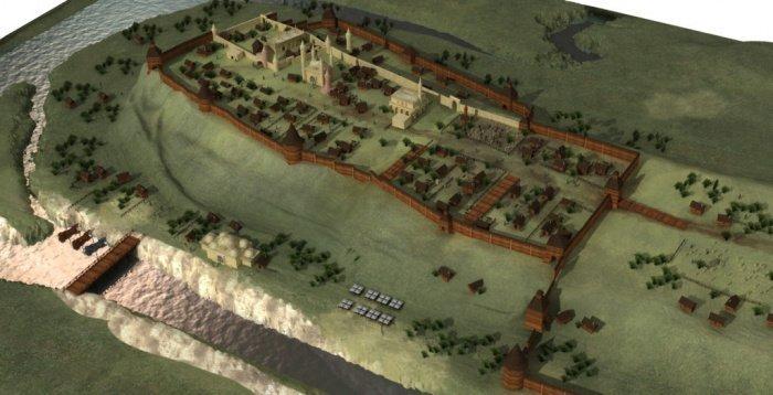 Казанский кремль и Арк в первой половине XVI века. Современная реконструкция