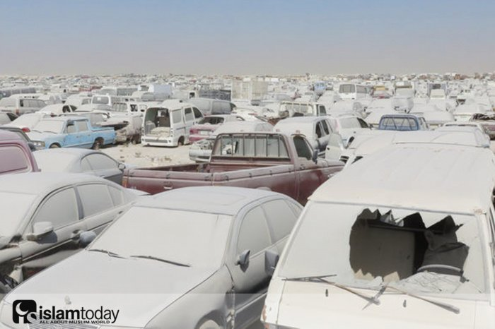кладбище машин в Катаре. (Источник фотографий: atlasobscura.com)