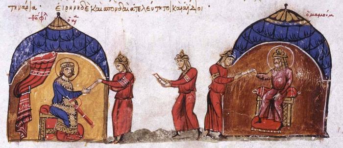 Аль-Мамун отправляет послание византийскому императору Феофилу