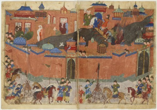 Осада Багдада войсками хана Хулагу в 1258 году. Средневековая миниатюра