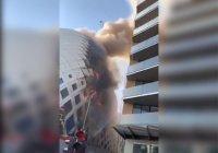 В центре Бейрута вспыхнул торговый центр (Видео)