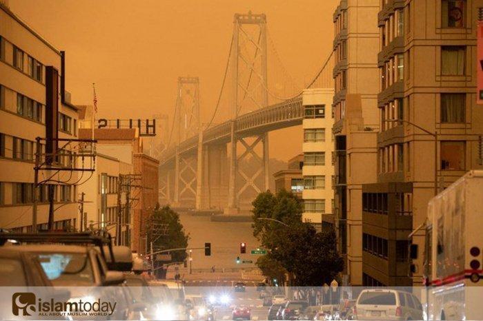Адские пожары в Калифорнии. (Источник фото: arabnews.com)