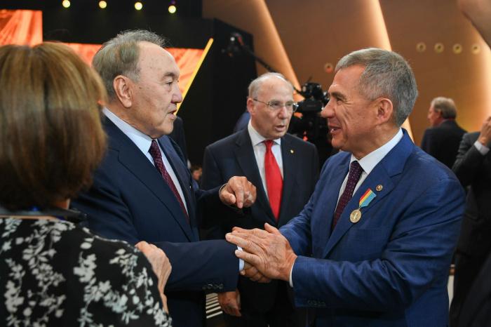 Назарбаев и Минниханов в ходе визита президента РТ в Казахстан.