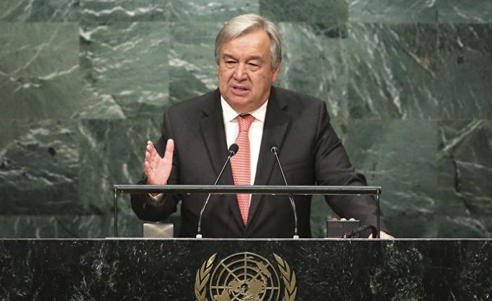 Генсек ООН подвел итоги деятельности Организации за 75 лет.