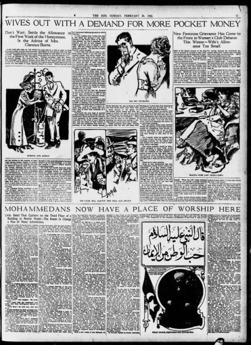 Статья в New York Sun от 25 февраля 1912 года