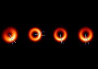 Сделаны новые снимки гигантской черной дыры