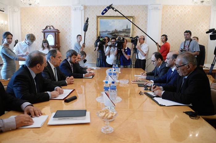 Сергей Лавров с представителями сирийской оппозиции.