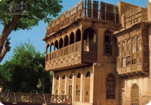 Вид на традиционный дом с шанашилем (Багдад)