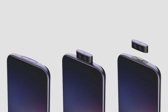 В смартфоне, который назван IFEA, разработчики по-своему решают проблему экрана без вырезов