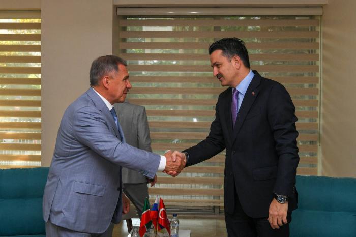 Минниханов и Пакдемирли на встрече в Измире.