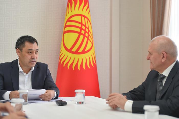 Жапаров и Удовиченко на встрече в Бишкеке.