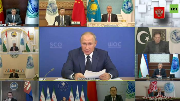 Президент России выступил на заседании ШОС.