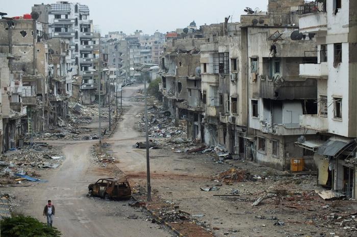 Значительная часть Сирии оказалась разрушенной в результате войны.
