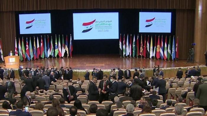 Конференция по беженцам проходит в Дамаске.