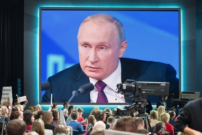 Пресс-конференция президента России традиционно проходит в конце года.