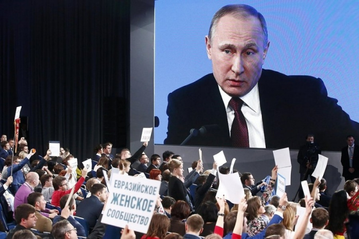 СМИ назвали дату большой пресс-конференции Владимира Путина.