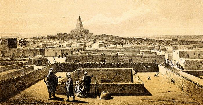 Вид на Тимбукту работы Генриха Барта 1858 год