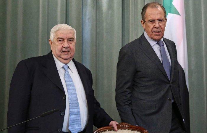 Лавров и Муаллем в ходе одной из встреч в Москве.