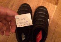 Россиянин нашел в обуви The North Face записку с просьбой о помощи от уйгура из Китая