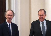 Лавров проведет встречу со спецпосланником генсека ООН по Сирии