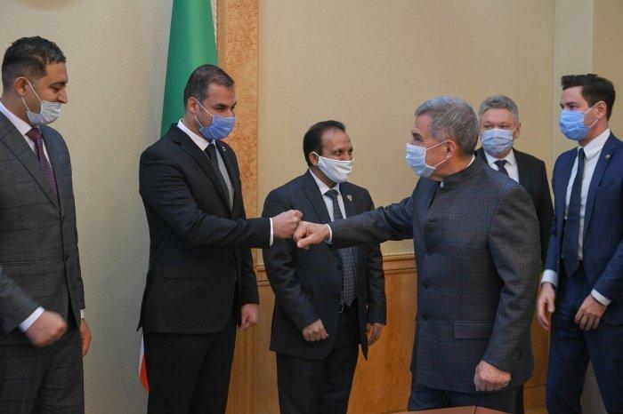 Президент Татарстана принял делегацию Сирии.
