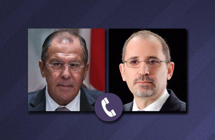 Главы МИД России и Иордании провели телефонные переговоры.