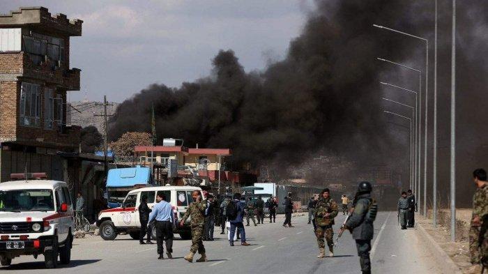 Мощный взрыв прогремел рядом с базой Вооруженных сил Афганистана.