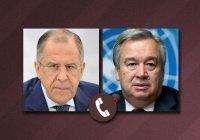Лавров и Гутерриш обсудили гуманитарные проблемы Карабаха